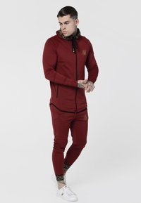 SIKSILK - CARTEL ATHLETE TAPE ZIP THROUGH  - Sportovní bunda - red - 1