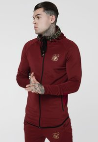 SIKSILK - CARTEL ATHLETE TAPE ZIP THROUGH  - Sportovní bunda - red - 0