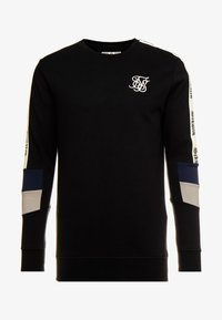 SIKSILK - RETRO PANEL TAPE CREW - Sudadera - black/grey/navy - 3