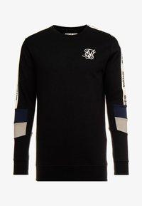 SIKSILK - RETRO PANEL TAPE CREW - Sweater - black/grey/navy - 3