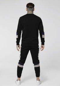 SIKSILK - RETRO PANEL TAPE CREW - Sweater - black/grey/navy - 2