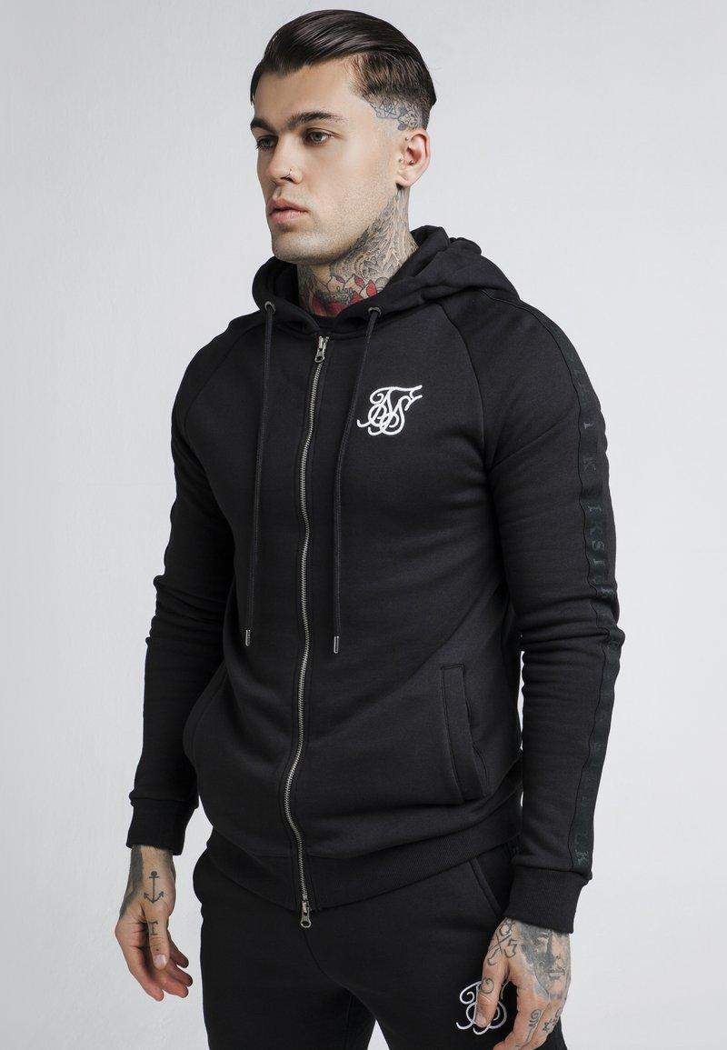 SIKSILK - RAGLAN ZIP THROUGH HOODIE - Zip-up hoodie - black