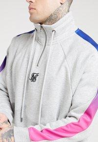 SIKSILK - OVERHEAD ZIP FADE PANEL - Sweater - grey marl/neon - 4