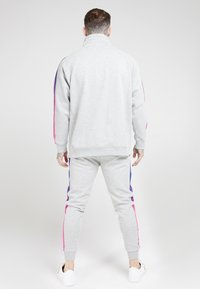 SIKSILK - OVERHEAD ZIP FADE PANEL - Sweater - grey marl/neon - 2