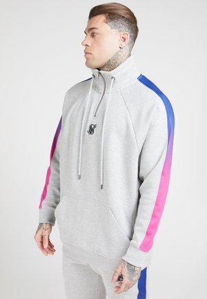 OVERHEAD ZIP FADE PANEL - Sweater - grey marl/neon