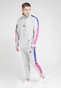 SIKSILK - OVERHEAD ZIP FADE PANEL - Sweater - grey marl/neon - 1