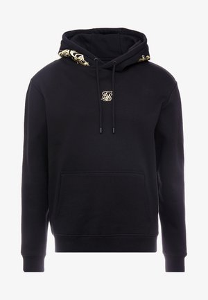 OVERHEAD HOODIE - Jersey con capucha - jet black/gold