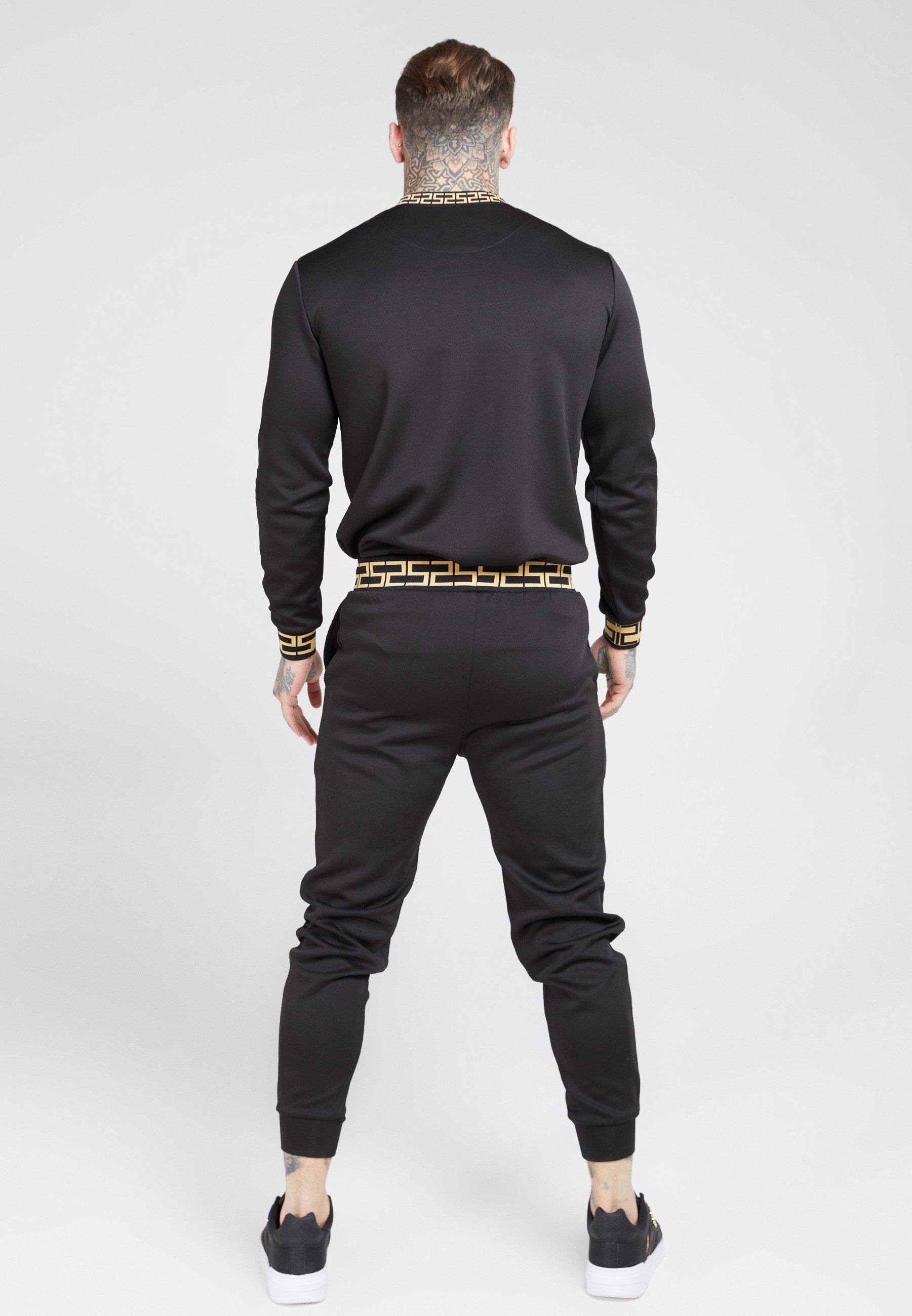 SIKSILK CHAIN - Bluzka z długim rękawem - black/gold