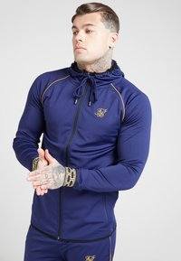 SIKSILK - SCOPE CARTEL ZIP THROUGH HOODIE - Sportovní bunda - navy - 4