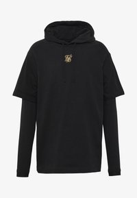 SIKSILK - BOXY DOUBLE SLEEVE HOODIE - Hoodie - black /gold