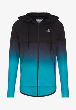 ATHLETE HYBRID ZIP THROUGH HOODIE - veste en sweat zippée - black/teal