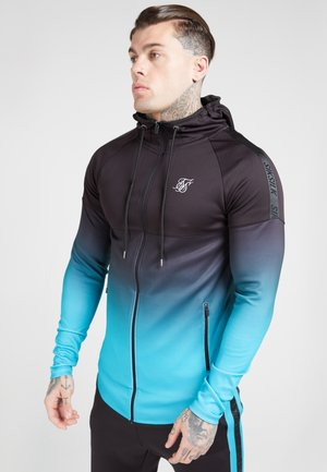 ATHLETE HYBRID ZIP THROUGH HOODIE - veste en sweat zippée - black/teal