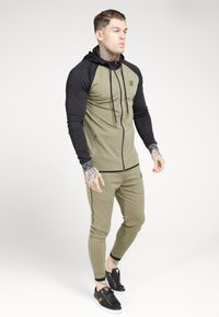 SIKSILK - SCOPE ZIP THROUGH HOODIE - Kurtka sportowa - khaki/black - 1