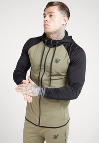 SIKSILK - SCOPE ZIP THROUGH HOODIE - Kurtka sportowa - khaki/black - 4