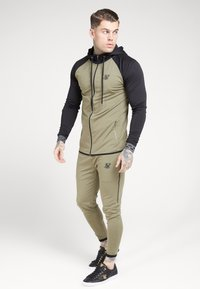 SIKSILK - SCOPE ZIP THROUGH HOODIE - Kurtka sportowa - khaki/black - 0