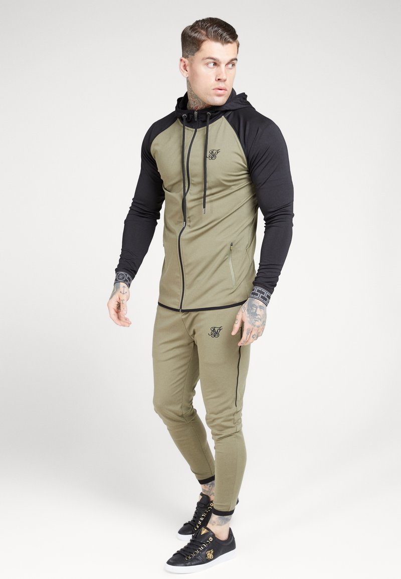 SIKSILK - SCOPE ZIP THROUGH HOODIE - Kurtka sportowa - khaki/black