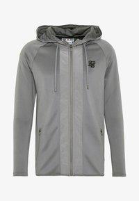 SIKSILK - CREASED ZIP THROUGH HOODIE - Zip-up hoodie - grey - 3