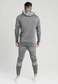 SIKSILK - CREASED ZIP THROUGH HOODIE - Zip-up hoodie - grey - 2