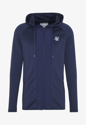 CREASED ZIP THROUGH HOODIE - veste en sweat zippée - navy