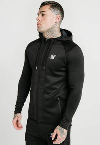 SIKSILK - CREASED ZIP THROUGH HOODIE - Hoodie met rits - black - 0