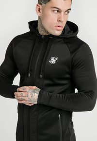 SIKSILK - CREASED ZIP THROUGH HOODIE - Bluza rozpinana - black - 4