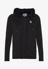 SIKSILK - CREASED ZIP THROUGH HOODIE - Hoodie met rits - black - 3