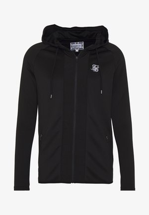 CREASED ZIP THROUGH HOODIE - Hoodie met rits - black