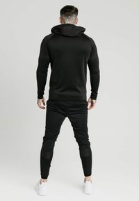 SIKSILK - CREASED ZIP THROUGH HOODIE - Hoodie met rits - black - 2