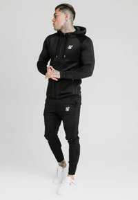 SIKSILK - CREASED ZIP THROUGH HOODIE - Hoodie met rits - black - 1