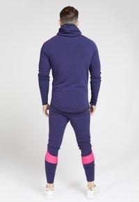 SIKSILK - FADE PANEL ZIP THROUGH HOODIE - Zip-up hoodie - navy / neon fade - 2