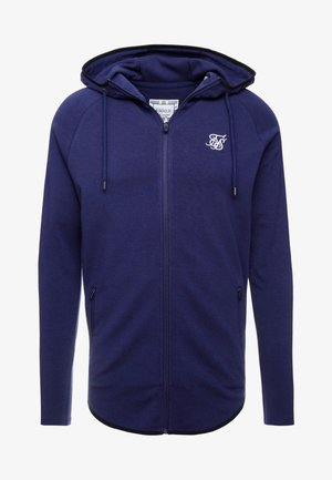 FADE PANEL ZIP THROUGH HOODIE - Huvtröja med dragkedja - navy / neon fade