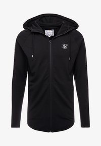 SIKSILK - FADE PANEL ZIP THROUGH HOODIE - Hettejakke - black / silver - 3