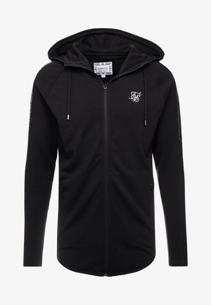 FADE PANEL ZIP THROUGH HOODIE - Huvtröja med dragkedja - black / silver