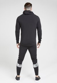 SIKSILK - FADE PANEL ZIP THROUGH HOODIE - Hettejakke - black / silver - 2