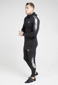 SIKSILK - FADE PANEL ZIP THROUGH HOODIE - Hettejakke - black / silver - 1