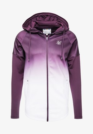 ATHLETE HYBRID ZIP THROUGH HOODIE - Sportovní bunda - rich burgundy