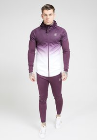 SIKSILK - ATHLETE HYBRID ZIP THROUGH HOODIE - Verryttelytakki - rich burgundy - 0