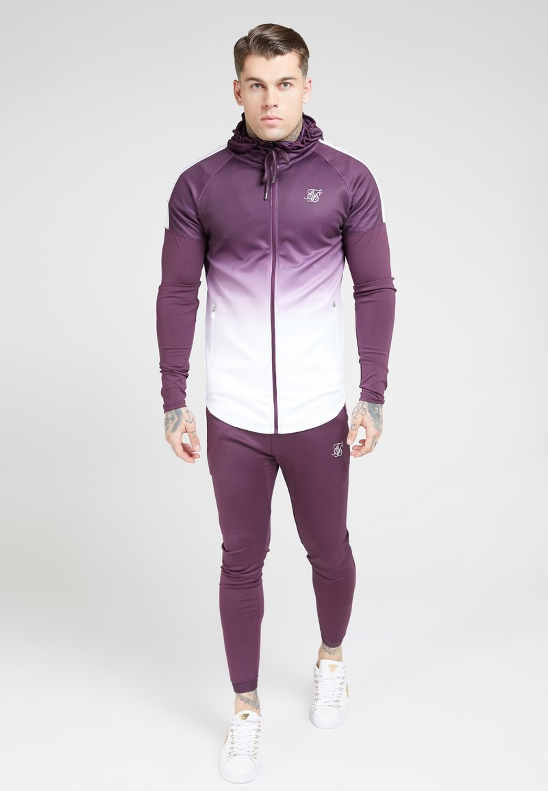 SIKSILK - ATHLETE HYBRID ZIP THROUGH HOODIE - Verryttelytakki - rich burgundy
