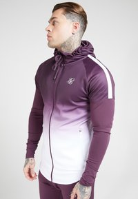 SIKSILK - ATHLETE HYBRID ZIP THROUGH HOODIE - Verryttelytakki - rich burgundy - 4