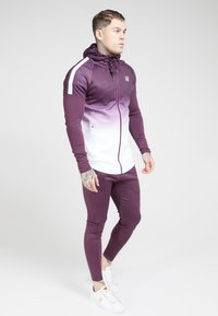 SIKSILK - ATHLETE HYBRID ZIP THROUGH HOODIE - Verryttelytakki - rich burgundy - 1