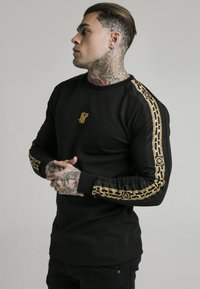 SIKSILK - SIKSILK  PANEL CREW  - Sweatshirt - black & gold - 0