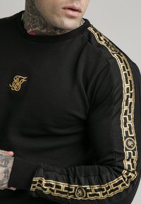 SIKSILK - SIKSILK  PANEL CREW  - Sweatshirt - black & gold