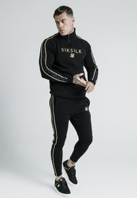 SIKSILK - DANI ALVES QUARTER ZIP ROPE TRACK - Sweater - black - 1
