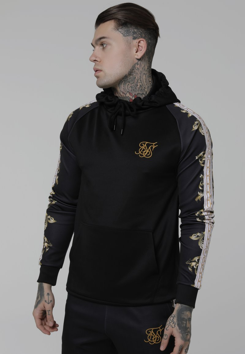 SIKSILK - Sweatshirt - black/white/gold