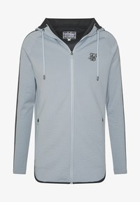SIKSILK - ATHLETE EYELET ZIP THROUGH HOODIE - Trainingsjacke - ice grey/charcoal - 3