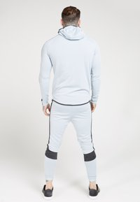 SIKSILK - ATHLETE EYELET ZIP THROUGH HOODIE - Trainingsjacke - ice grey/charcoal - 2