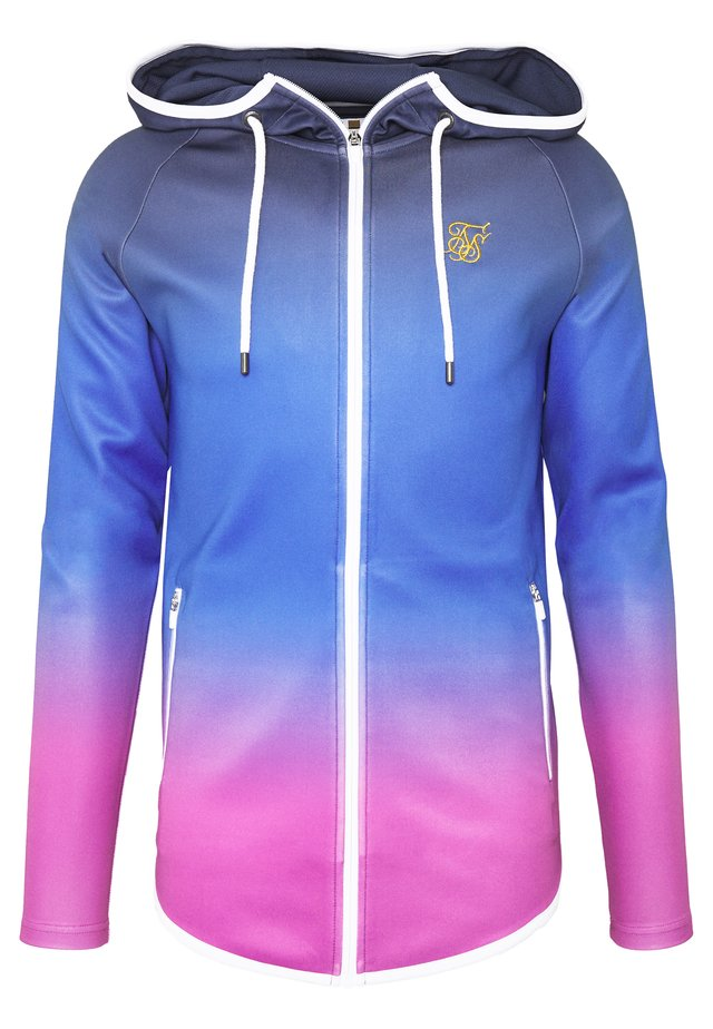 ATHLETE ZIP THROUGH FADE HOODIE - Zip-up hoodie - tri neon