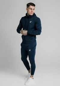 SIKSILK - AGILITY ZIP THROUGH HOODIE - Trainingsvest - navy - 1