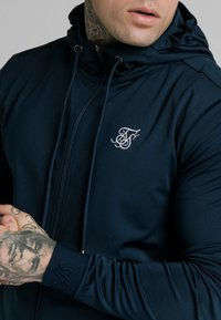 SIKSILK - AGILITY ZIP THROUGH HOODIE - Trainingsvest - navy - 4