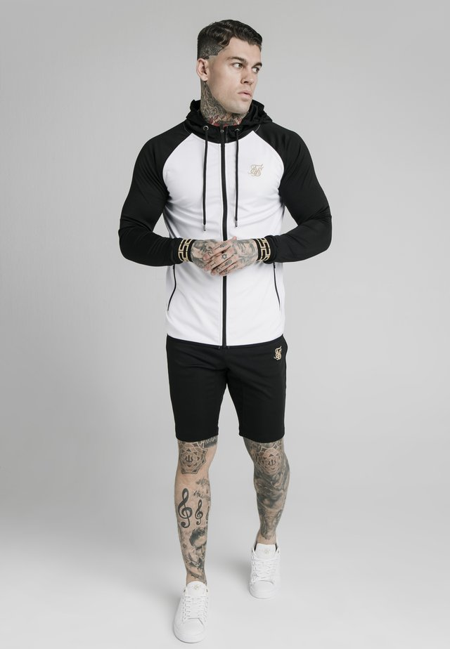 SCOPE ZIP CONTRAST THROUGH HOODIE - Cardigan - black/white